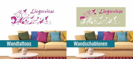 wandtattoos wandschablonen. Black Bedroom Furniture Sets. Home Design Ideas