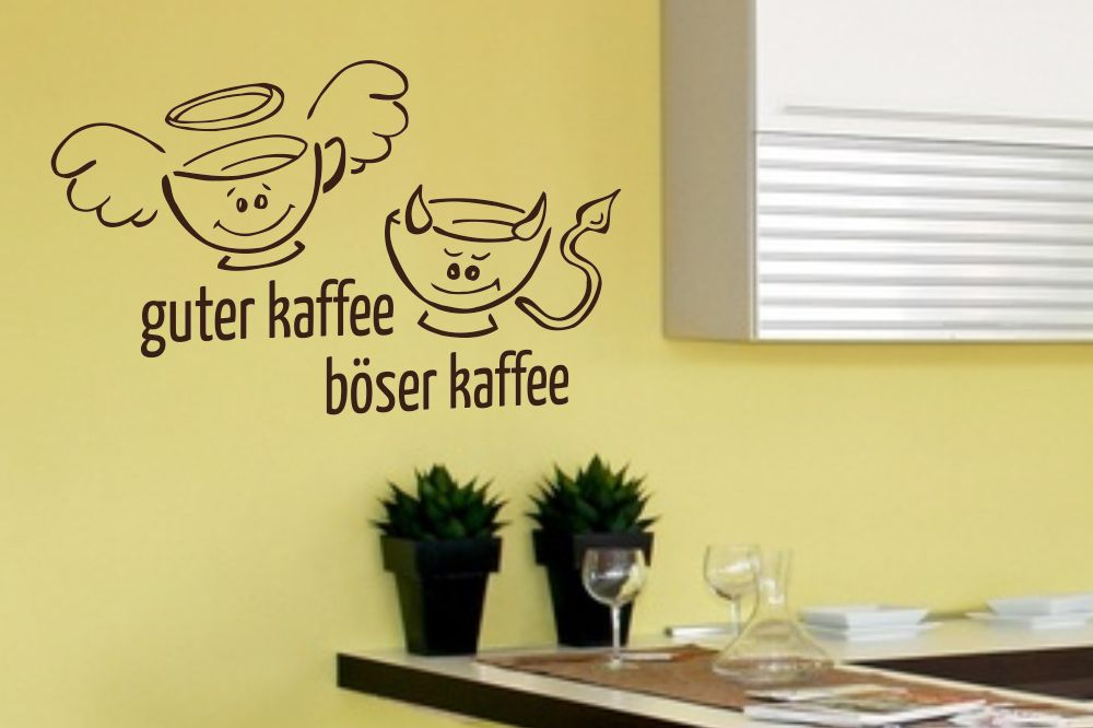 wandtattoo guter kaffee b ser kaffee. Black Bedroom Furniture Sets. Home Design Ideas
