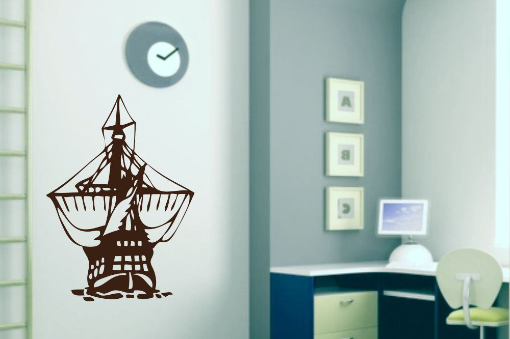 wandtattoo piratenschiff. Black Bedroom Furniture Sets. Home Design Ideas