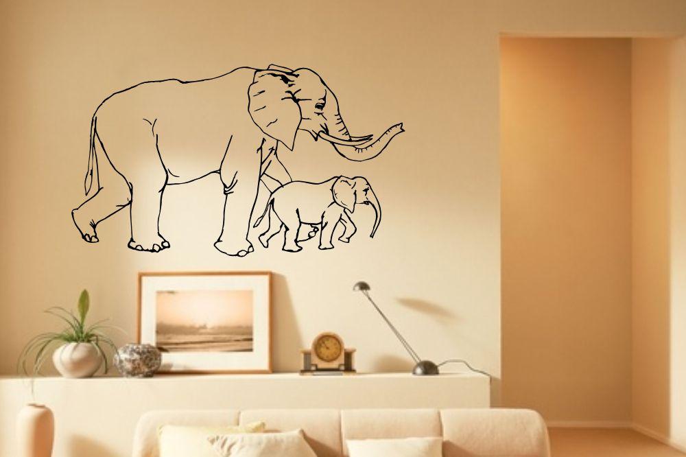 wandtattoo elefanten. Black Bedroom Furniture Sets. Home Design Ideas
