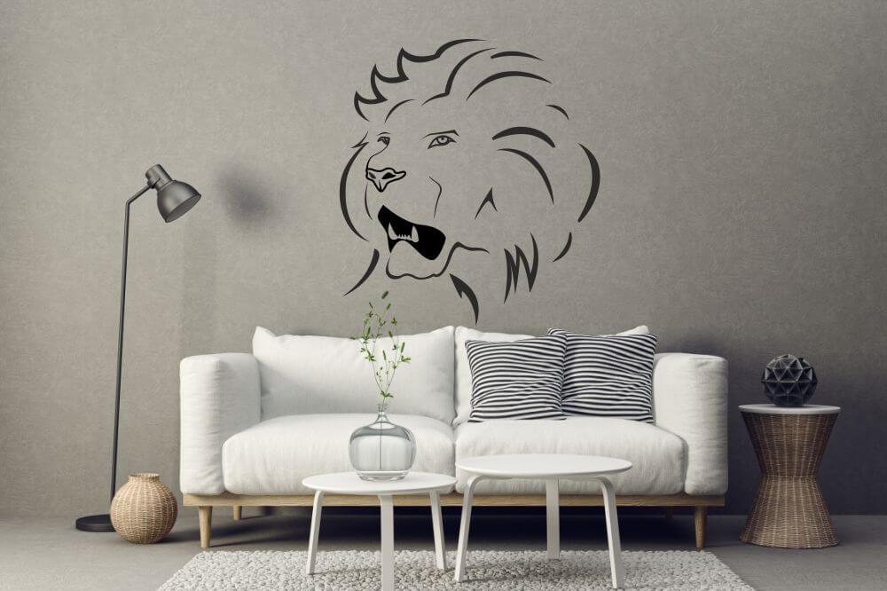 afrikanische wandtattoos und wandschablonen von. Black Bedroom Furniture Sets. Home Design Ideas