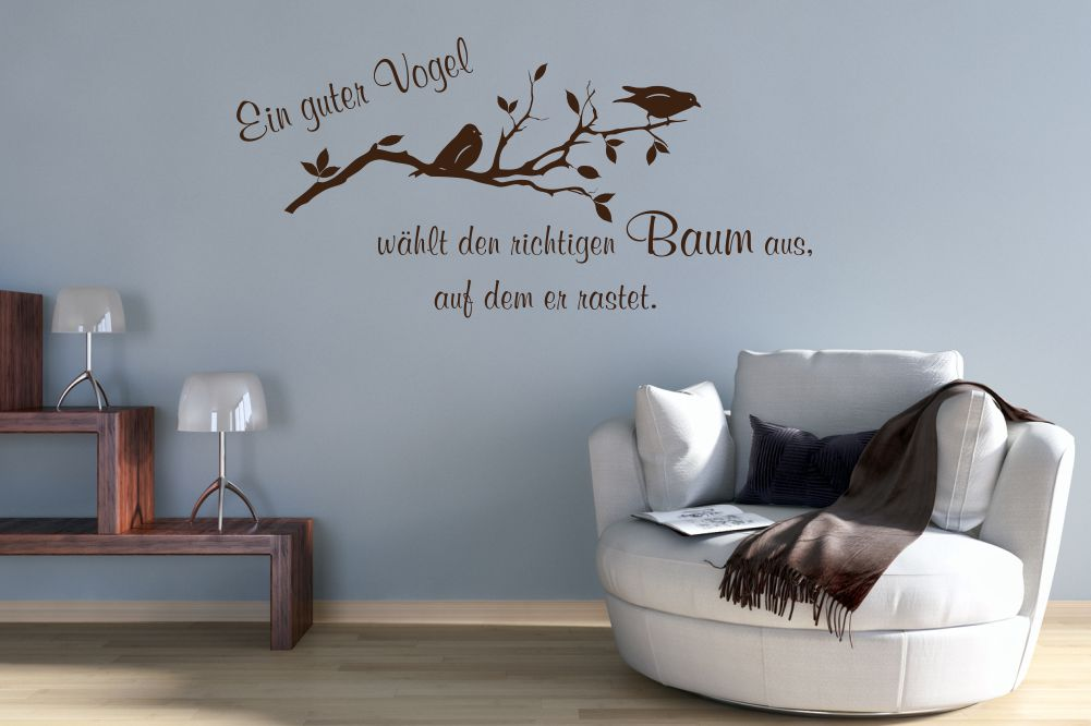 Originelle Wandtattoos und Wandschablonen mit Sprüchen und