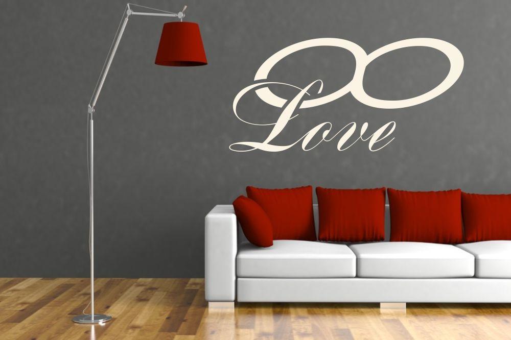 romantische wandtattoos und wandschablonen f r die liebe von. Black Bedroom Furniture Sets. Home Design Ideas